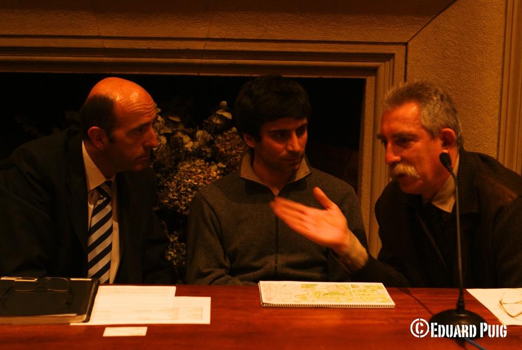 President AVP Rafel Campillo; Sr. Romero de Mobilitat; i Sr. Pérez de Doymo