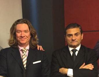 Paul Portigliotti e il Presidente Salsano