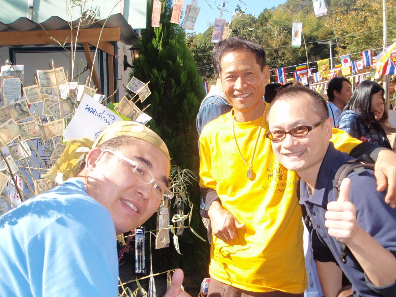八王子寺院イベント会場にて パラウェド先生・ガウナーの笹川さんと