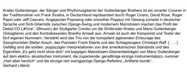 Kritik aus der Zeitschrift Jazz Podium