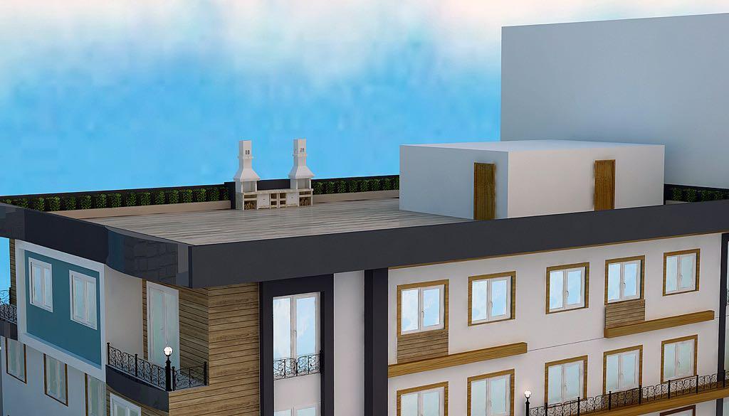 Dachterasse mit zwei Grillanlagen für alle Bewohner