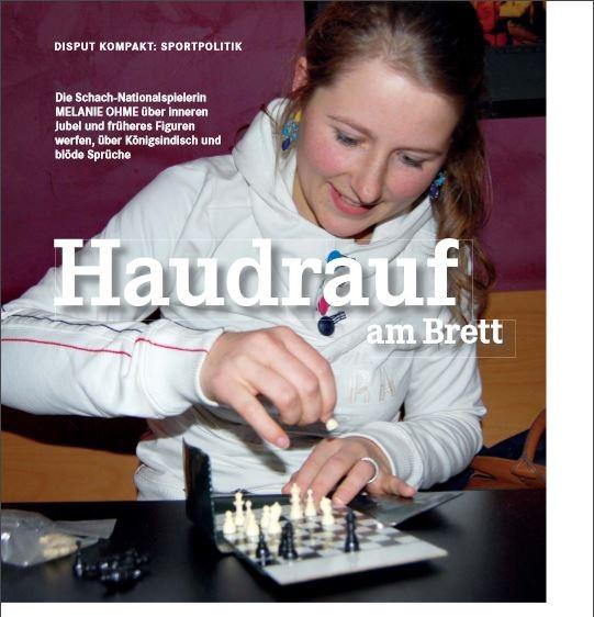 Schach-Nationalspielerin Melanie Lubbe (geb. Ohme) im Interview mit DISPUT, 2015