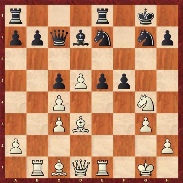 Sg4! Aus positionellem Vorteil erwachsen häufig taktische Möglichkeiten!