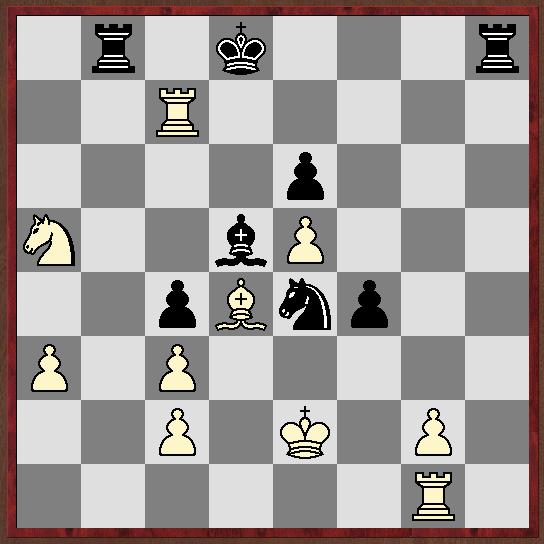 Stellung nach 32...Kd8. Es folgte: 33.Txc4