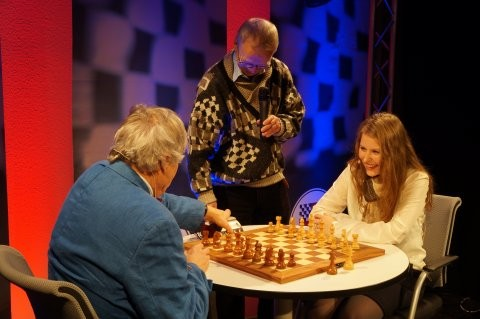 ChessBase Weihnachtsfeier 2013 mit Vlastimil Hort und Helmut Pfleger (Quelle: ChessBase)