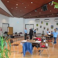 Schach-Länderkampf Deutschland-Polen, 2012 in Gladenbach, Spielsaal