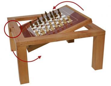 Schach, Wendeschach, Couchtisch, Geschenk für Schachspieler