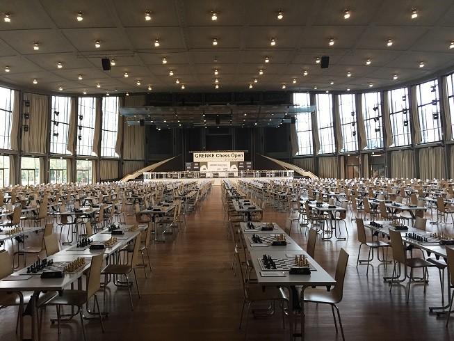 GRENKE Chess Open 2016, Spielsaal