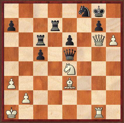Stellung nach 36….Sf8. Findet ihr den weißen Gewinnzug?