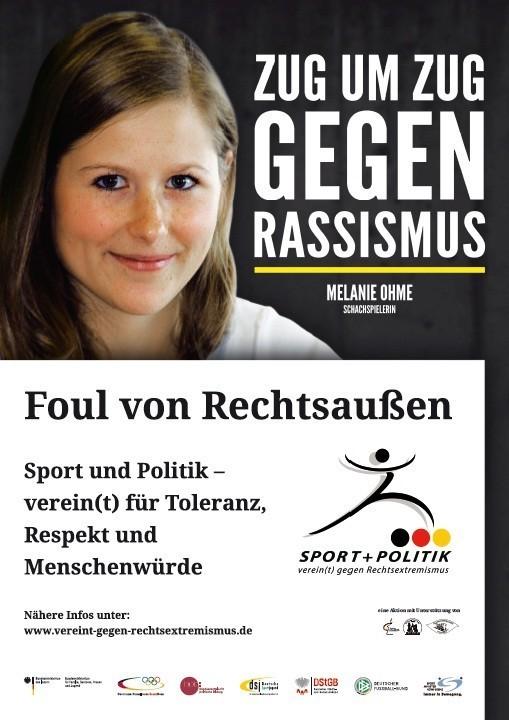 Zug um Zug gegen Rassismus Plakat, Melanie Lubbe (geboren Ohme)