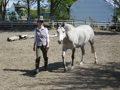 馬とシンクロ