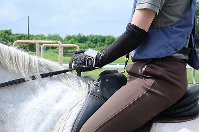 乗馬も楽しく練習!