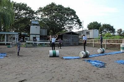乗馬のバランス練習法