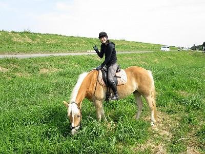 馬と一緒にハッピー!