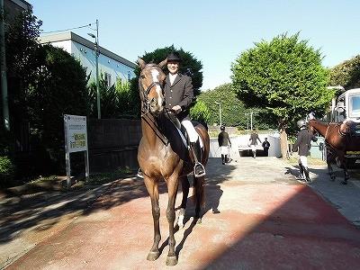 馬術競技会場へ出発