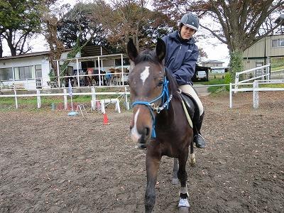 乗馬で幸せな一日