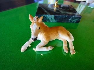 可愛い馬のフィギアもちろん本物の馬のほうが可愛いよ