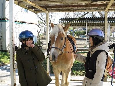 ウィッシュの体験乗馬
