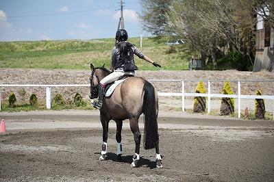 馬とのコンビネーションを練習します