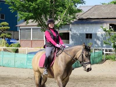 笑顔で乗馬!