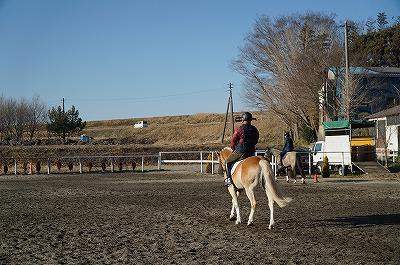 日と馬が支えあって