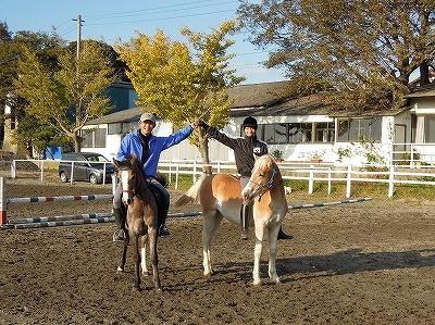 千葉茨城の乗馬クラブで紅葉初霜