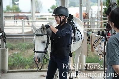 乗馬を体験