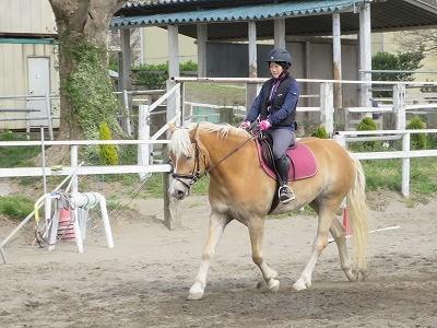 馬と一体に