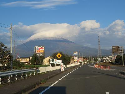 早朝富士山がきれい