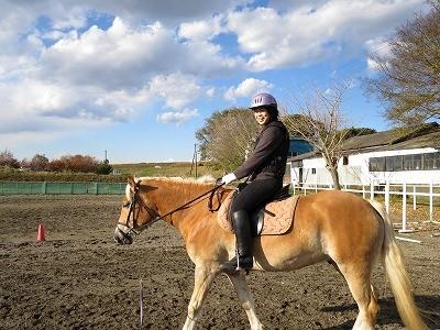 体験乗馬で笑顔