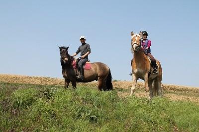 緑の中で乗馬を楽しもう!
