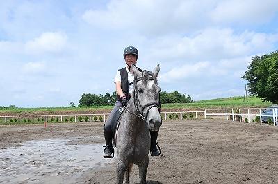 優しい馬と楽しい乗馬