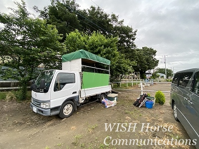 全日本へ馬の輸送