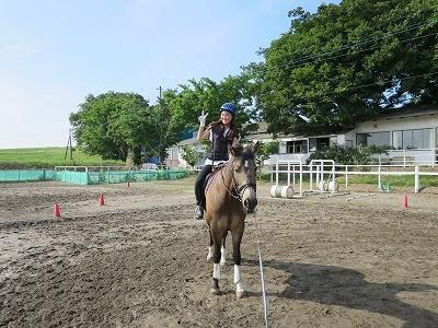 今日の体験乗馬