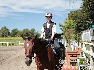 女性も子供も乗りやすい馬
