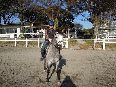 乗馬で笑顔!