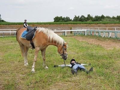 馬と一緒に