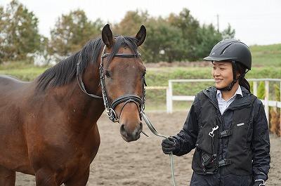 信頼している馬の表情