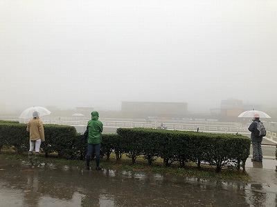 雨の競技会場