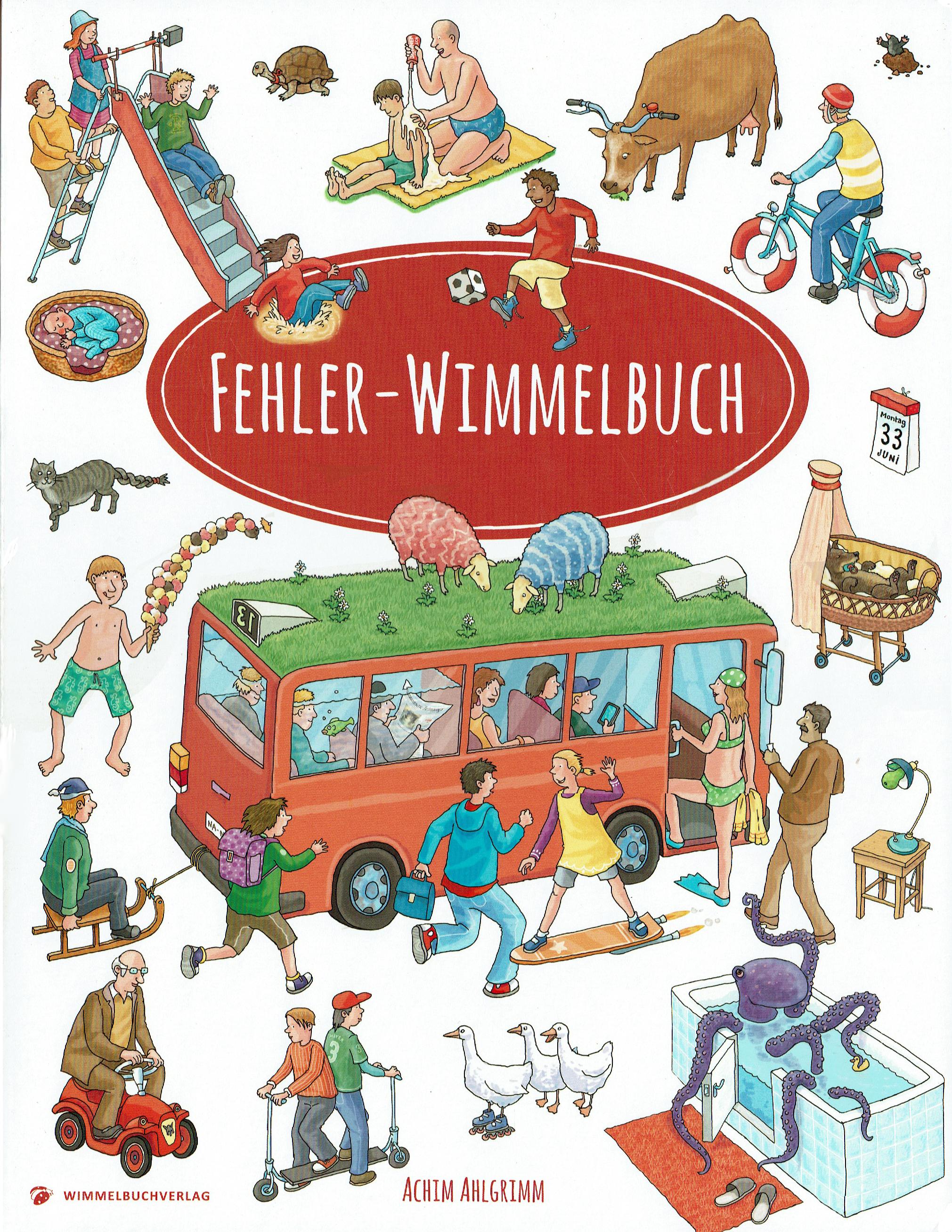 Fehler-Wimmelbuch, Wimmelbuchverlag 2017, Format 34x26