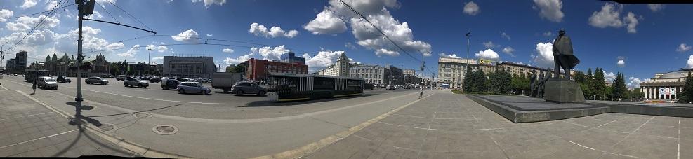 Das kleine Zentrum von sowjet. Art dominiert