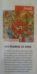 Article sur l'Expo ART PLURIEL