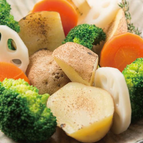 博多野菜だれ,料理使用例,ボイル野菜,博多水炊きさもんじ
