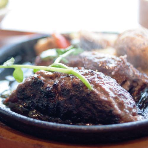 博多よかぽん,料理使用例,ハンバーグ,博多水炊きさもんじ