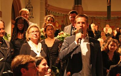 Christoph Schultz, Bürgermeister der Stadt Erkrath, zählte zu den Konzertbesuchern und hielt ein Grußwort.