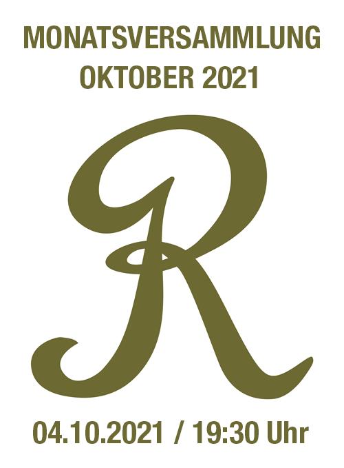 Monatsversammlung Oktober 2021
