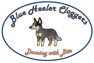 Blue Heeler Cloggers - Dancing with Bite - Official Logo