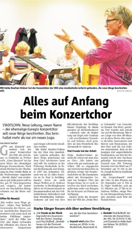 Münsterland Zeitung vom 19.09.2018