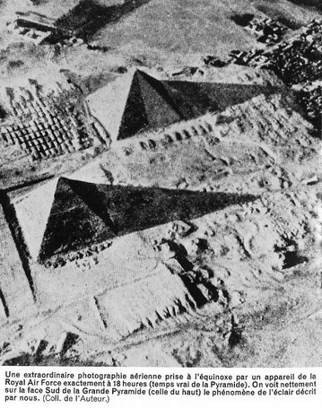 Pyramid on the day of the equinox