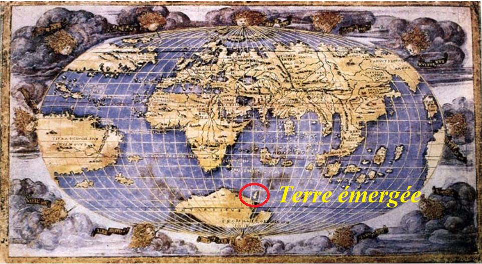 Terre émergée dessinée par Rosselli